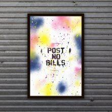 limited edition post no bills print